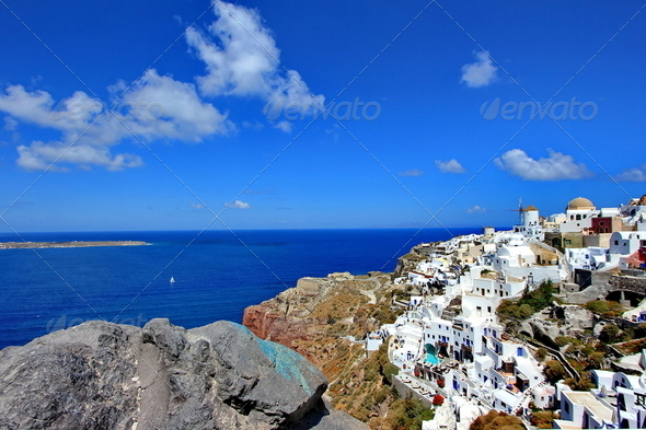 Oia, Greece, landscape - Stock Photo - Images