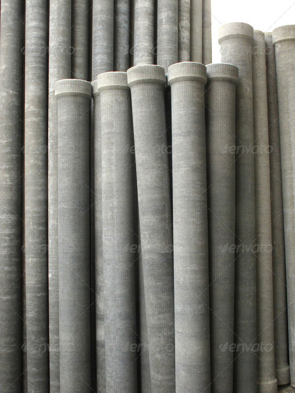 Asbestos pipes - Stock Photo - Images
