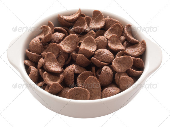 chocolate cereal - Stock Photo - Images