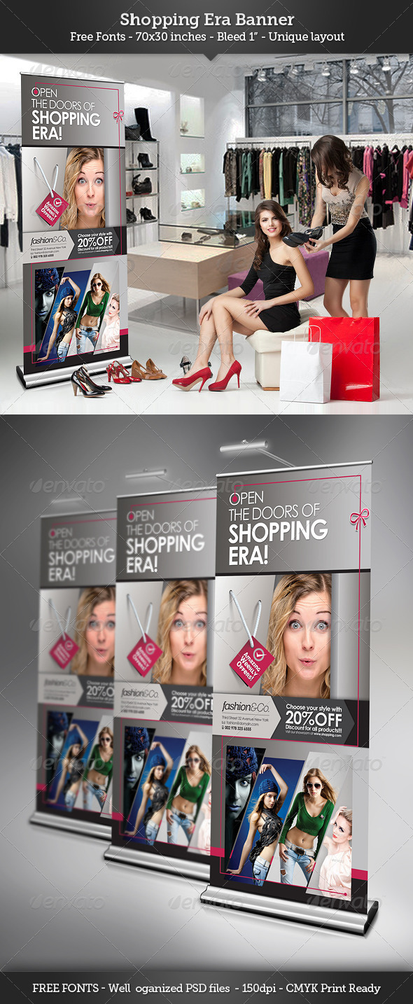GraphicRiver Shopping Era Banner Template 3356940