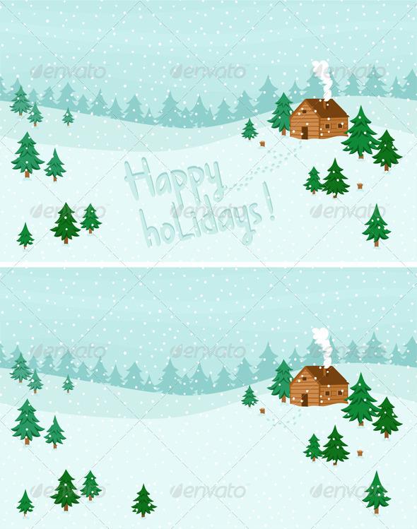 GraphicRiver Winter Landscape 3357078