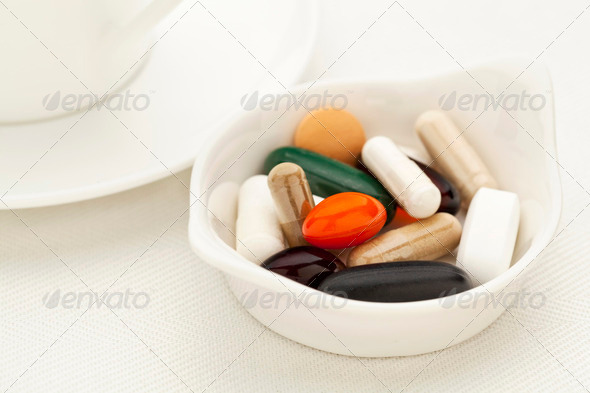 vitamin and supplement pills - Stock Photo - Images