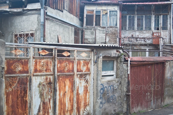 Street in the old town. Tbilisi, Georgia - Stock Photo - Images