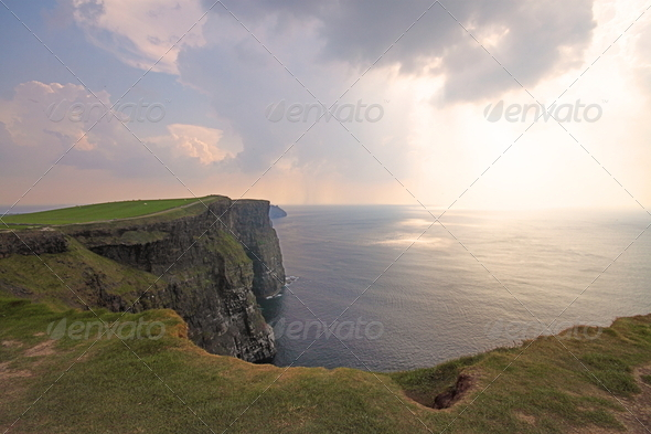 The Cliffs of Moher, Ireland - Stock Photo - Images