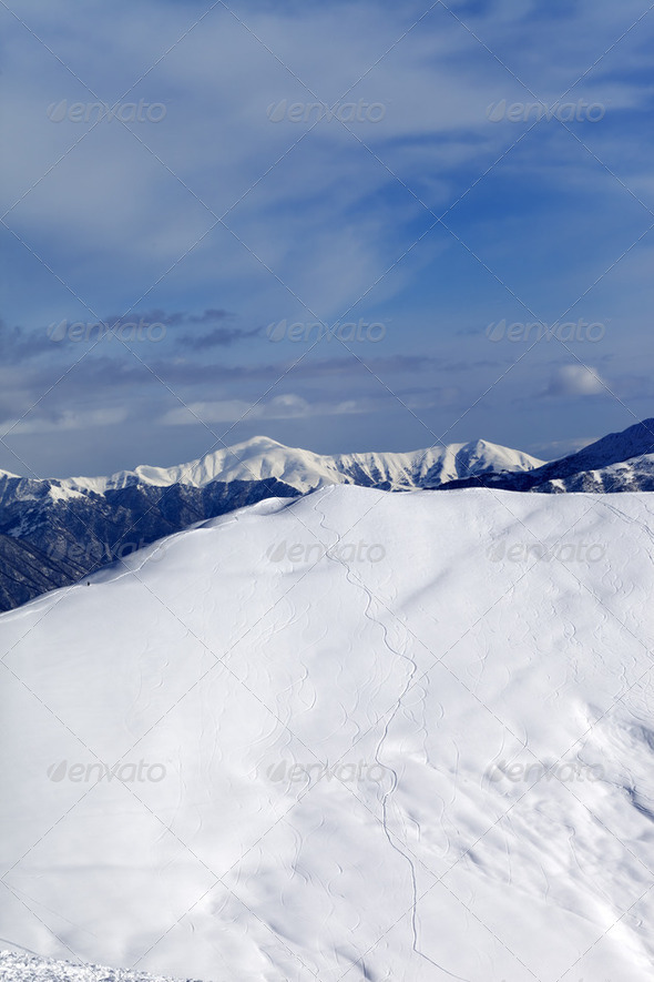 Ski slope for freeride - Stock Photo - Images