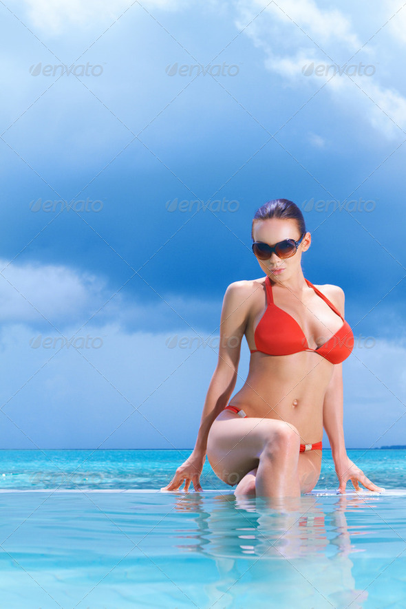 Woman at Maldives - Stock Photo - Images