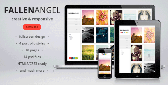 Fallen Angel - responsive &amp; creative template - Creative Site Templates