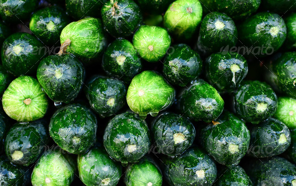 Fresh cucumbers background - Stock Photo - Images