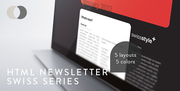 HTML Newsletter - Swiss Series - Newsletters Email Templates