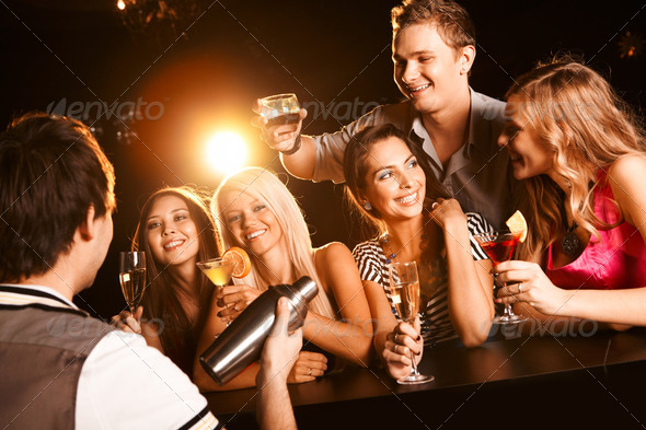 At the bar - Stock Photo - Images