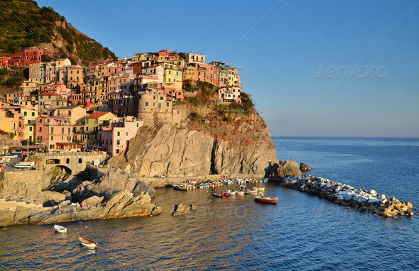 Manarola, Cinque Terre in Italy - Stock Photo - Images