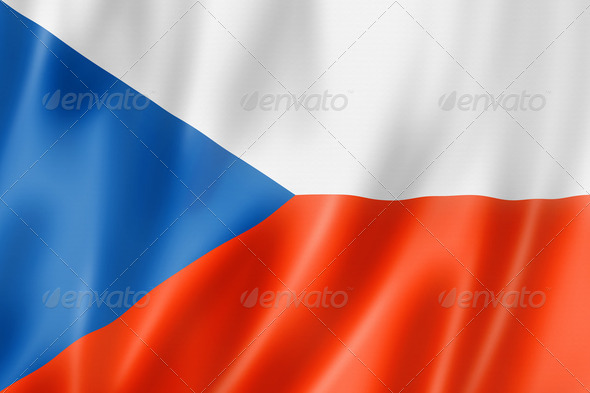 Czech flag - Stock Photo - Images