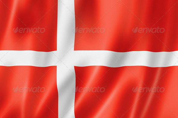 Danish flag - Stock Photo - Images