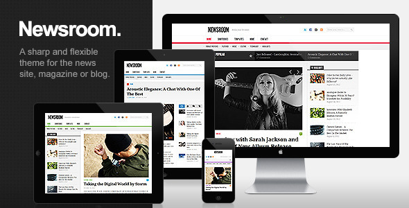 ThemeForest Newsroom Responsive News & Magazine Theme 3357554