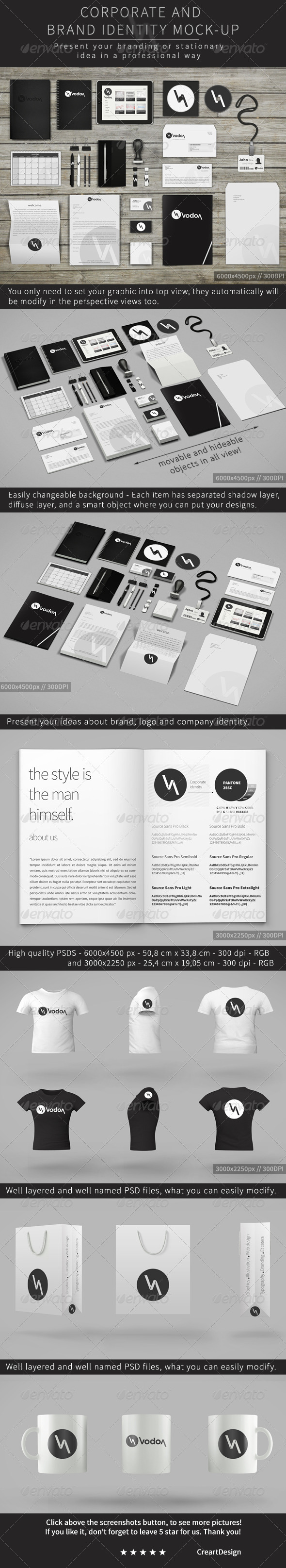 Corporate and Brand Identity Mock-Up - Stationery Print
