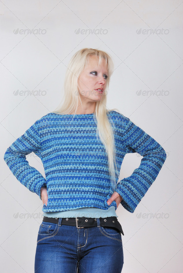 Woman looking somewhere - Stock Photo - Images