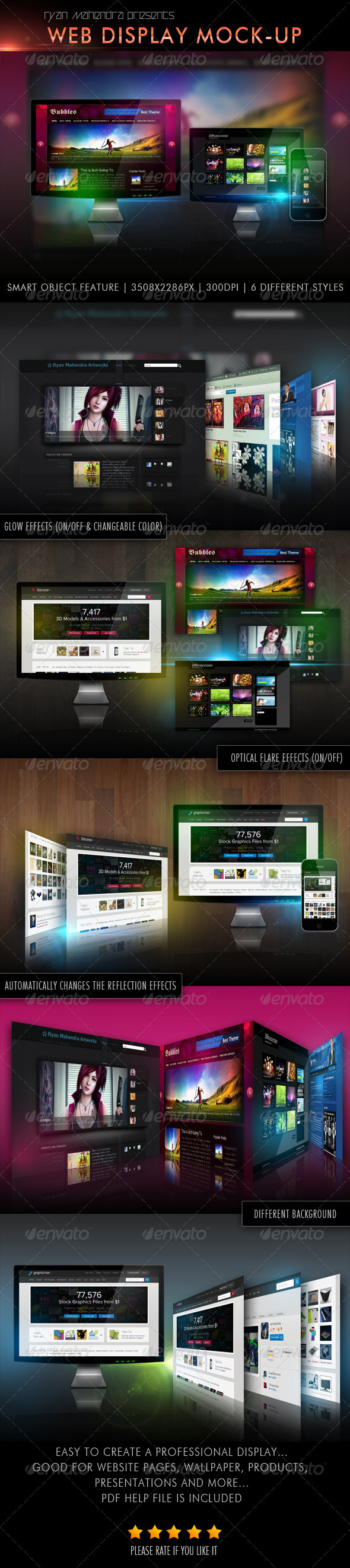 Web Display Mock-Up - Multiple Displays