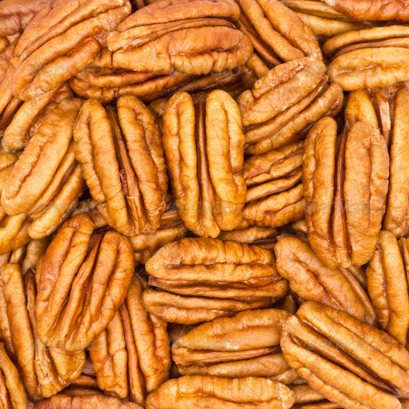 Pecan Nuts Background - Stock Photo - Images