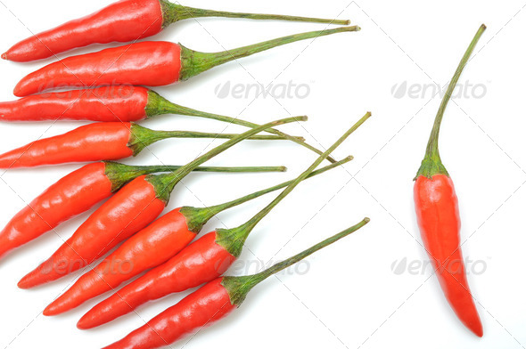 Red hot chili peppers pattern - Stock Photo - Images