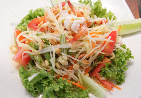 Papaya Salad - Stock Photo - Images