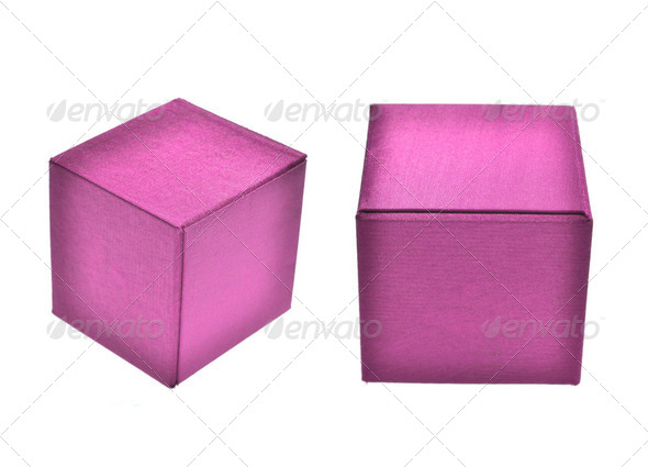 box in colorful isolate on white - Stock Photo - Images