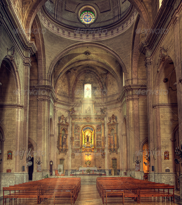 mahon cathedral interior - Stock Photo - Images
