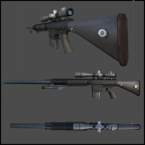 3DOcean M110 Semi-Automatic Sniper 3357786