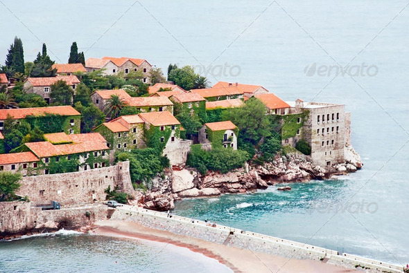 Island in Adriatic sea - Stock Photo - Images
