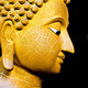 Buddha image in  on black. - PhotoDune Item for Sale