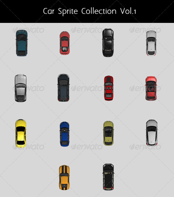 GraphicRiver Car Top Sprite Collection Vol.1 3357879