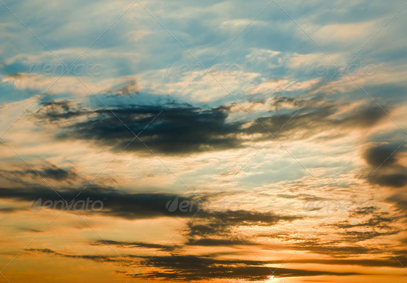 The evening sky. - Stock Photo - Images