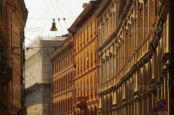 Old world buildings - Stock Photo - Images