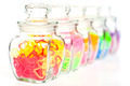 Colorful plastic heart in glass bottle. - PhotoDune Item for Sale