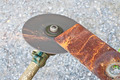Lawn mower blade sharpening. - PhotoDune Item for Sale