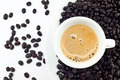 Hot coffee and bean isolated. - PhotoDune Item for Sale