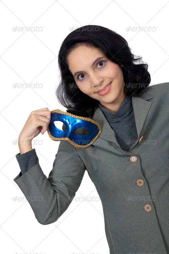 Woman Wear Mask - Stock Photo - Images