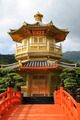 Golden pavilion in chinese garden - PhotoDune Item for Sale