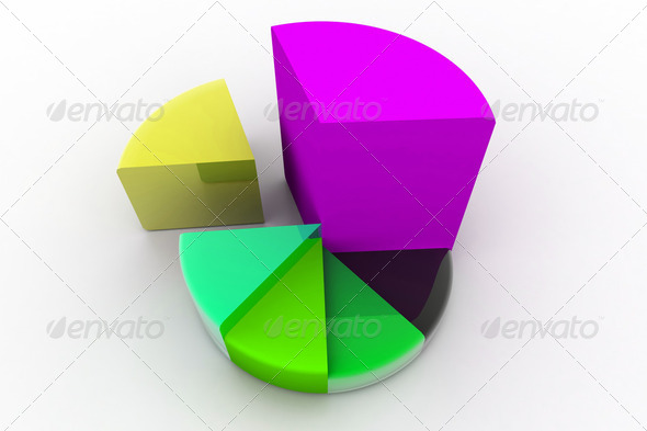 3d pie chart - Stock Photo - Images
