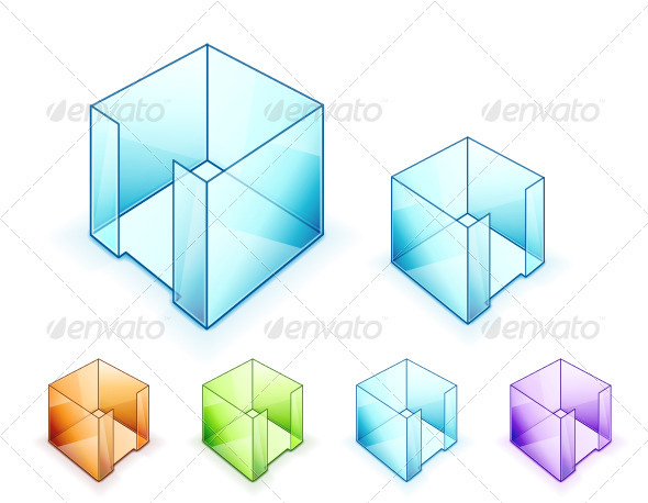 GraphicRiver Vector Glass Cubes 3358840