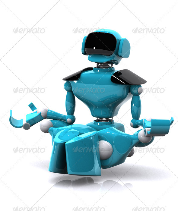 GraphicRiver Robot Meditating 3359065