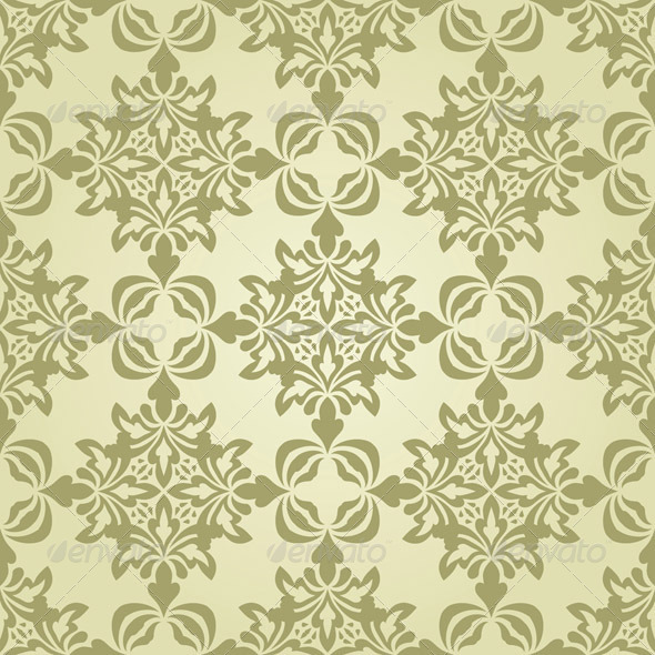 GraphicRiver Vector Seamless Vintage Wallpaper Pattern 3359341