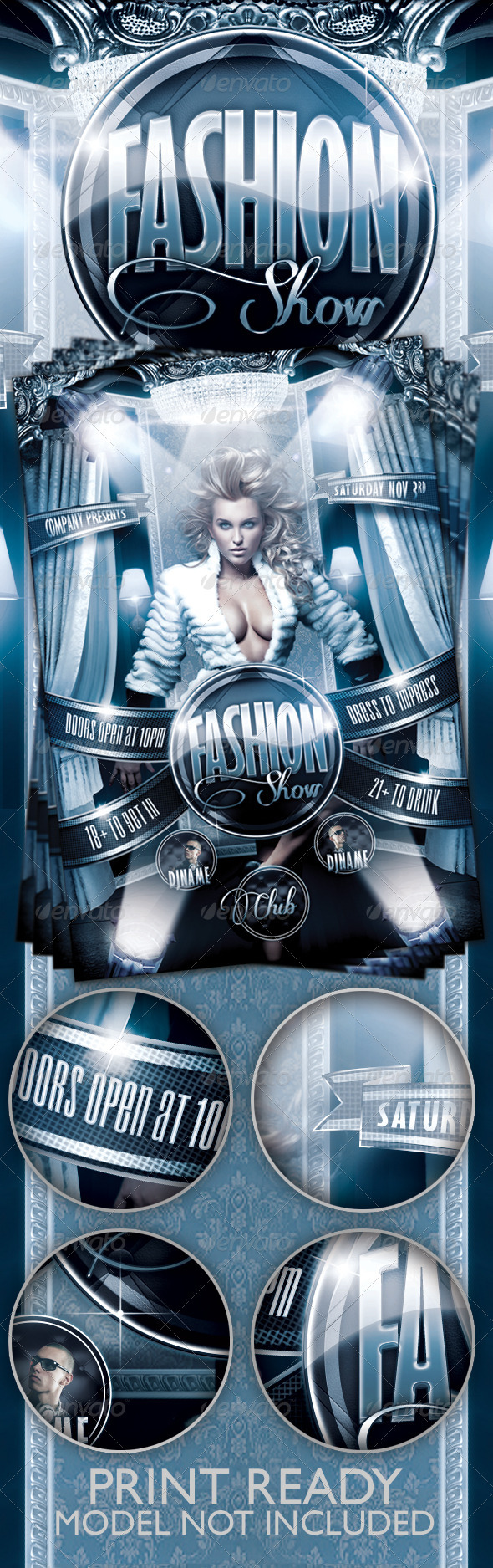 GraphicRiver Fashion Show Flyer Template 3359522