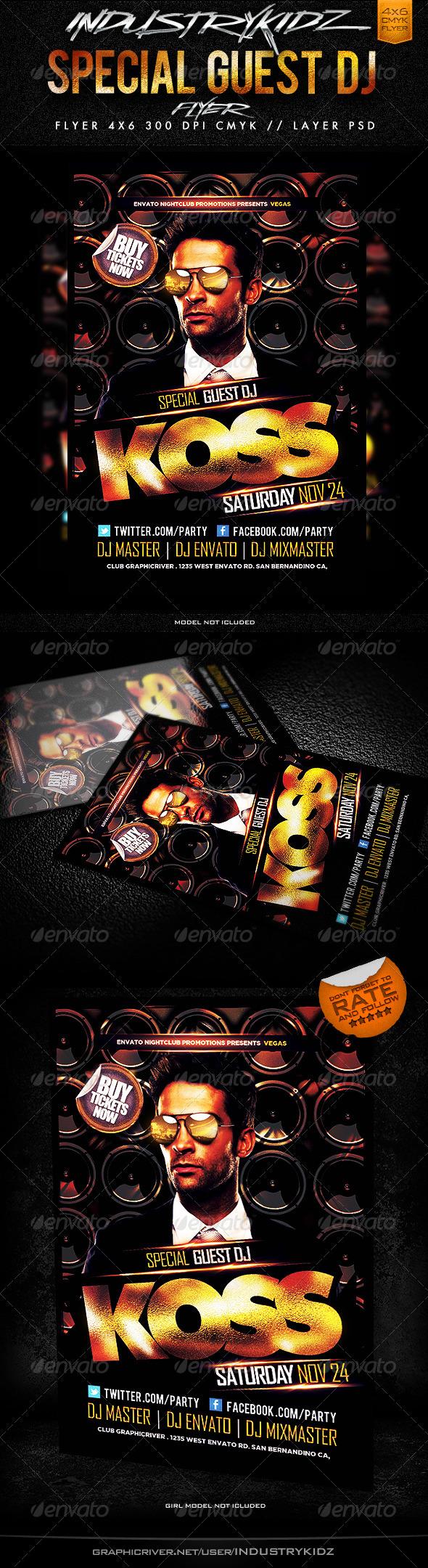 GraphicRiver Special Guest Dj Flyer Template V2 3359862