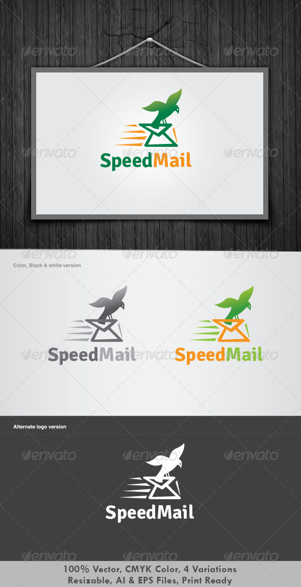 GraphicRiver Speed Mail Logo 3359864