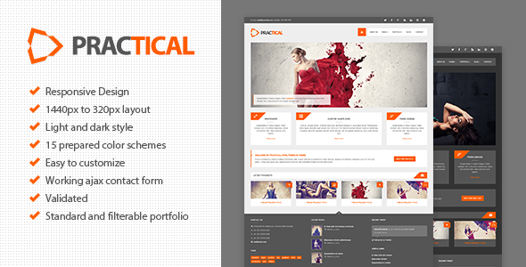 ThemeForest Practical HTML Responsive Theme 3359922