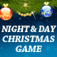 Night & Day Christmas Game and Greeting card - ActiveDen Item for Sale