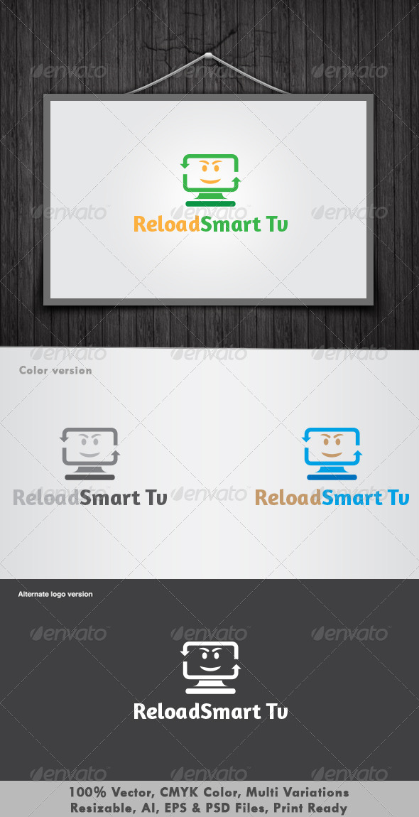 GraphicRiver Reload Smart Tv Logo 3361494