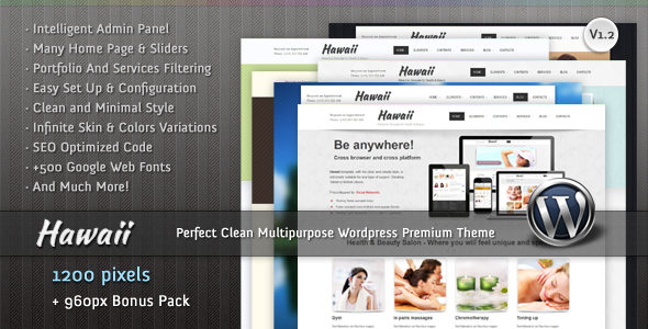 Hawaii - Multipurpose Wordpress Premium Theme