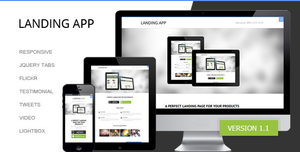 LandingApp responsive landing page