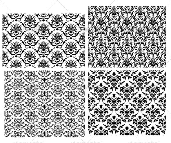 GraphicRiver Damask Pattern Set 3361990